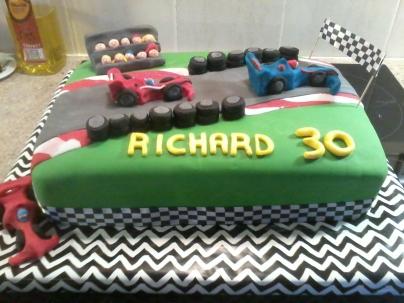 Formula 1 Themed Cake