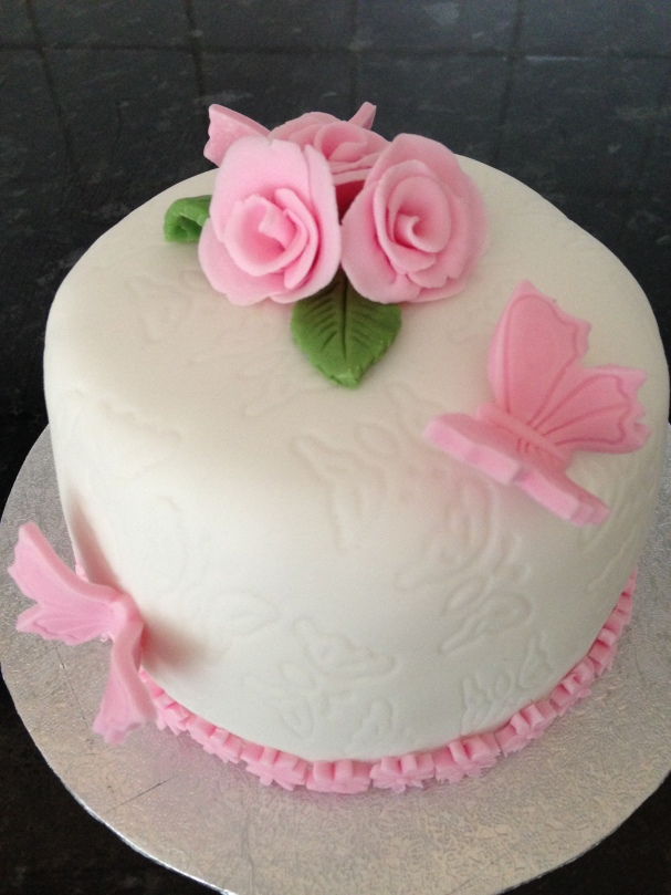 Butterfly Embossed With Roses and Butterflies