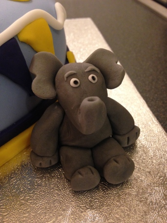 Elephant From Safari Cake