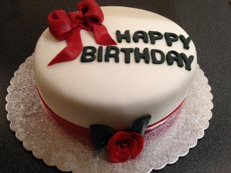 Rose/bow Cake