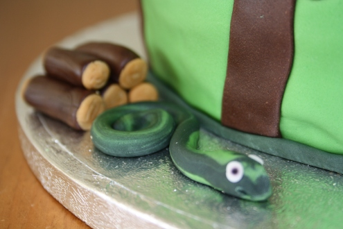 The Snake From The Gruffalo Cake
