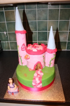 Princess Castle Tiered Cake