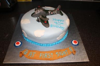RAF/Mosquito Aeroplane Cake