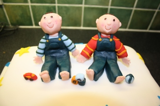 Twins From Christening Cake