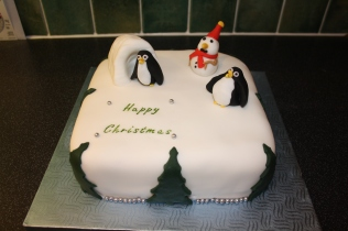 Snow Scene Rich Chocolate Fruit Christmas Cake