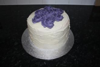 Purple Rose 'Rainbow' Cake
