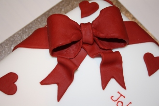 Red Sugarcraft Bow