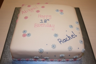 18th Birthday Cake for Twins