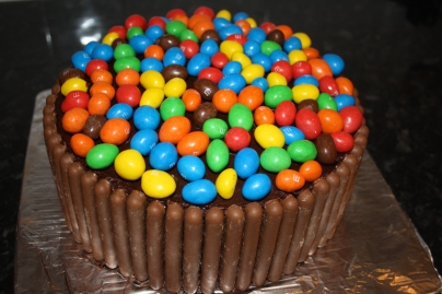 Ganache Covered Rich Chocolate Cake