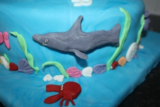 Shark From Under The Water Cake