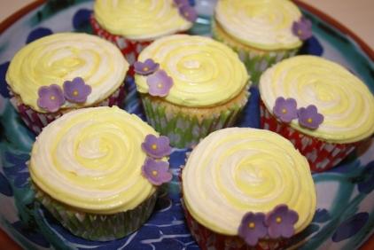 Dual Colour Lemon Cupcakes