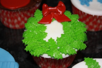 Holly Wreath Cupcake