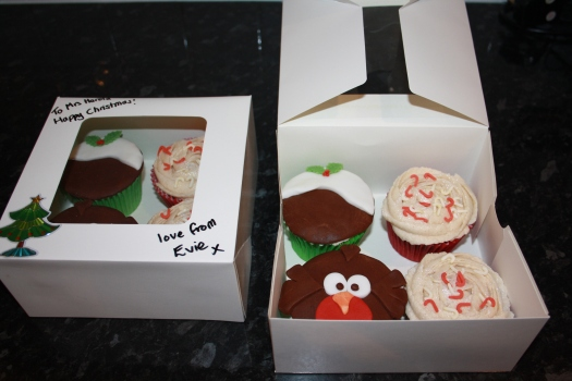 Boxed Christmas Cupcakes