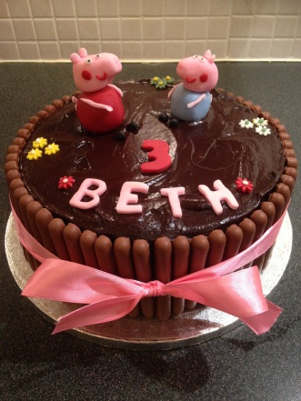 Chocolate Peppa Cake