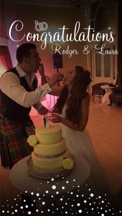 The Happy Couple Enjoying Their Cake!